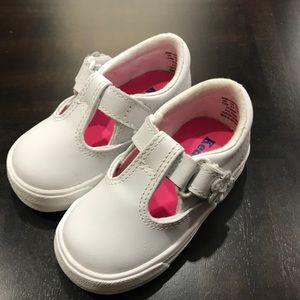 Keds Daphne Strap White Leather Baby Girls Shoes